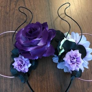 Disney Accessories - Maleficent Wire Flower Crown Disney Mouse Ears